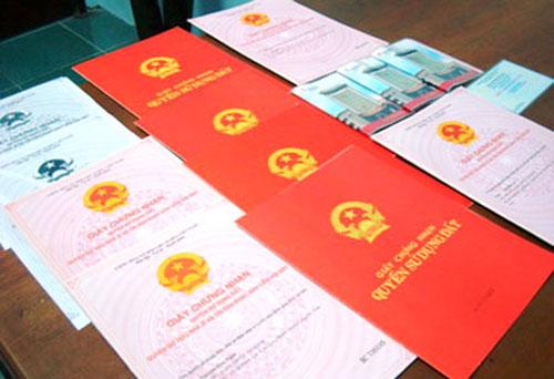 Các mẫu sổ đỏ nhà đất hợp pháp